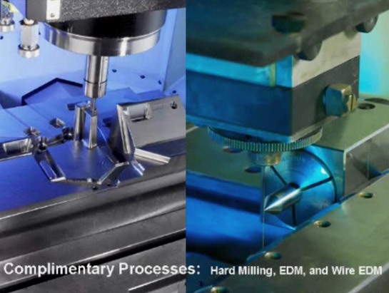Complimentary Processes: Hard Milling, EDM, and Wire EDM